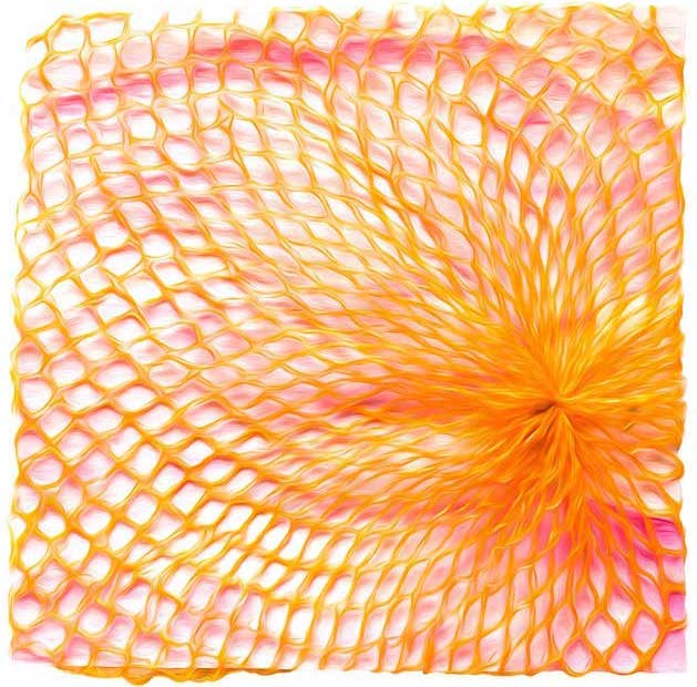 Stilisiertes Kartoffelnetz auf Aquarellmalerei
